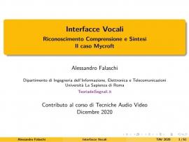 Interfacce Vocali: Riconoscimento, Comprensione e Sintesi. Il caso Mycroft